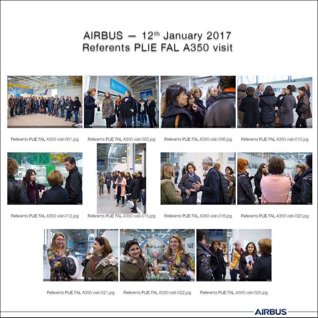 Visite ateliers Airbus par les référents du PLIE