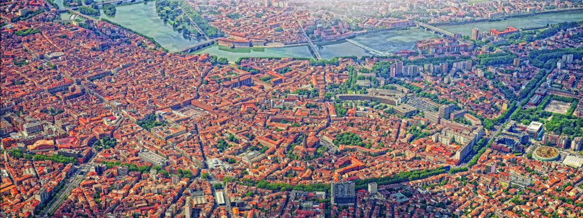 Toulouse vue du ciel