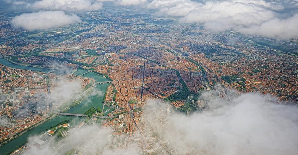 Image de Toulouse depuis le ciel