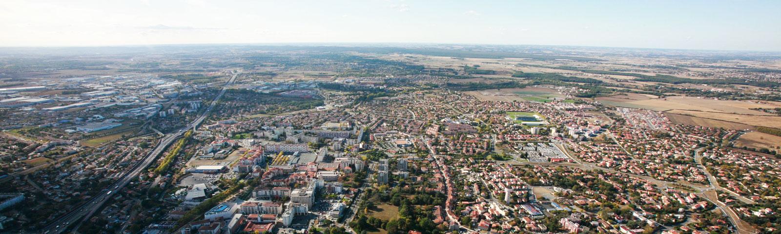 Vue aerienne de Toulouse